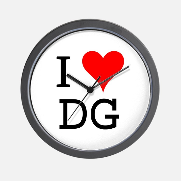I Love DG Wall Clock