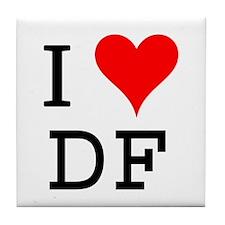 I Love DF Tile Coaster