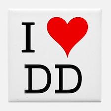 I Love DD Tile Coaster