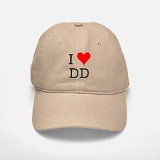 I Love DD Baseball Baseball Cap
