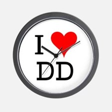 I Love DD Wall Clock