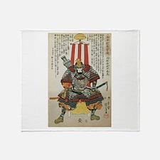 Samurai Oda Nobutaka Throw Blanket