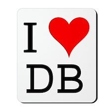 I Love DB Mousepad