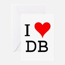 I Love DB Greeting Cards (Pk of 10)