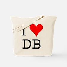 I Love DB Tote Bag