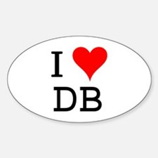 I Love DB Oval Decal