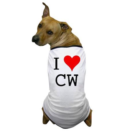 I Love CW Dog T-Shirt