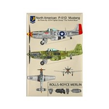 Chuck Yeager's P-51 Mustang Rectangle Magnets