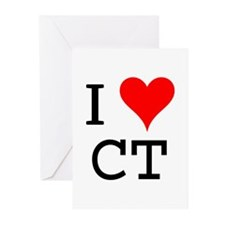 I Love CT Greeting Cards (Pk of 10)