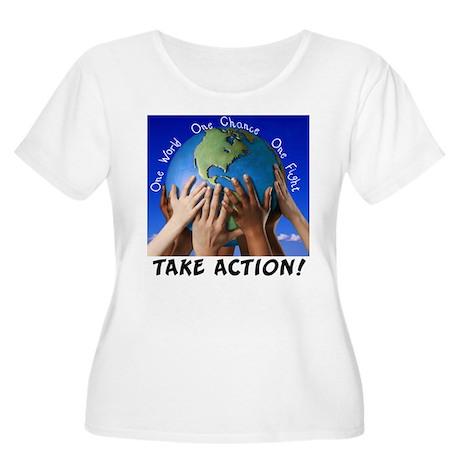 Take Action Women's Plus Size Scoop Neck T-Shirt