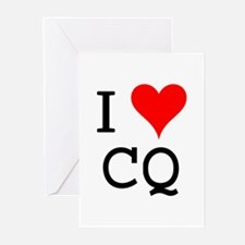 I Love CQ Greeting Cards (Pk of 10)