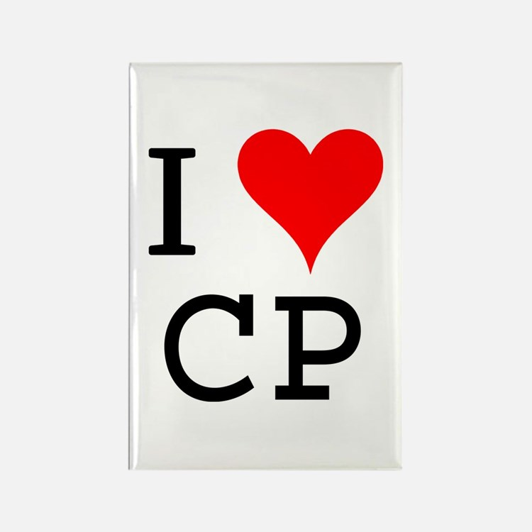 I Love CP Rectangle Magnet