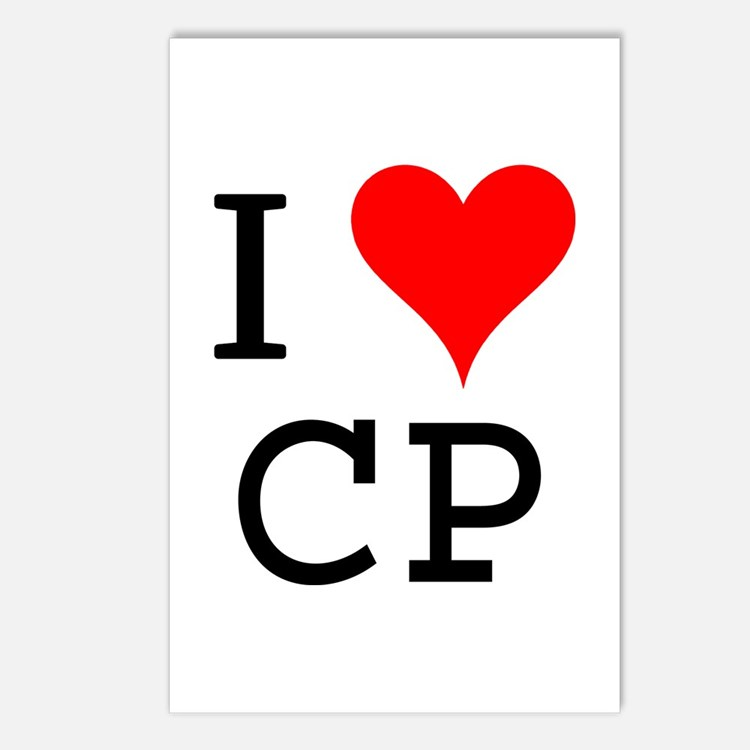 I Love CP Postcards (Package of 8)