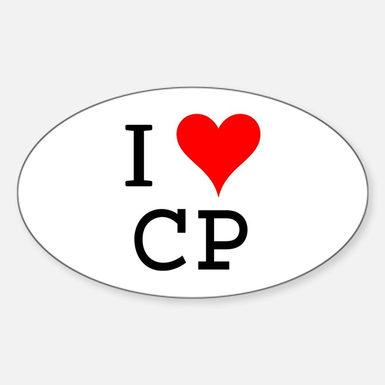 I Love CP Oval Decal