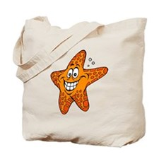 Happy Smiling Starfish Tote Bag