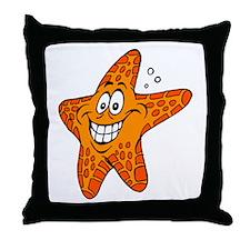 Happy Smiling Starfish Throw Pillow