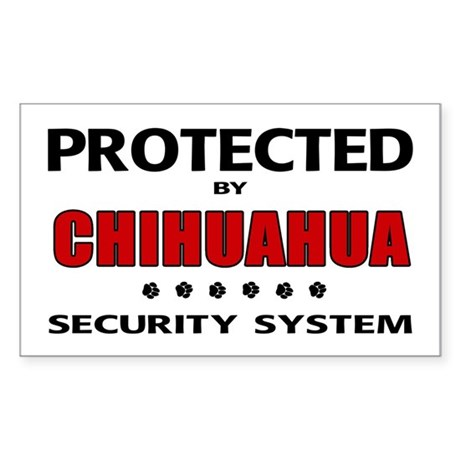 Chihuahua Security Rectangle Sticker