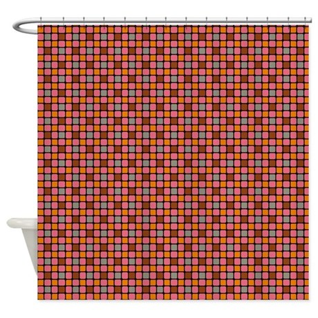 Colorful Mosaic Tiles Shower Curtain By PatternedShop