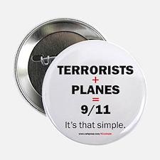 Terrorists+planes=9/11: Button