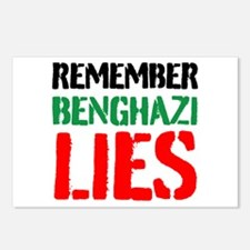 Remember Benghazi Lies Postcards (Package of 8)