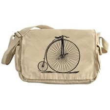 Vintage Penny Farthing Bicycle Messenger Bag