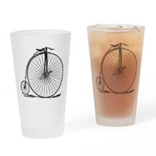 Vintage Penny Farthing Bicycle Drinking Glass