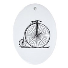 Vintage Penny Farthing Bicycle Ornament (Oval)