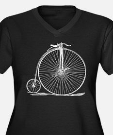 Vintage Penny Farthing Bicycle Plus Size T-Shirt