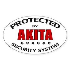 Akita Security Oval Decal