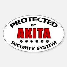 Akita Security Oval Decal