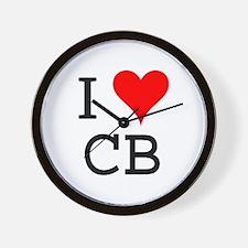 I Love CB Wall Clock