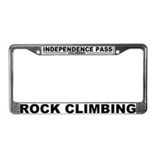 Funny Climbing License Plate Frame