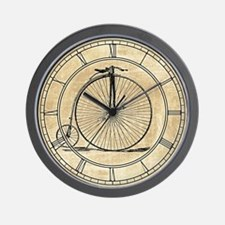 Vintage Penny Farthing Bicycle Wall Clock