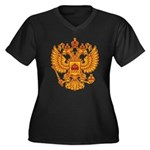Strk3 Russian 18th Women's Plus Size V-Neck Dark T