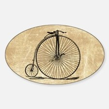 Vintage Penny Farthing Bicycle Decal