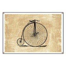 Vintage Penny Farthing Bicycle Banner