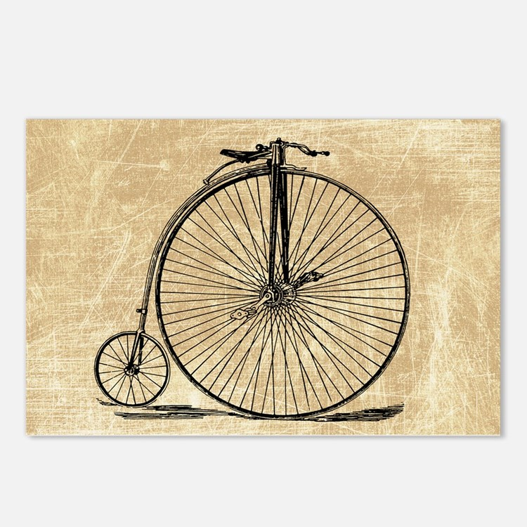 Vintage Penny Farthing Bicycle Postcards (Package
