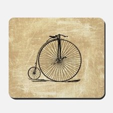 Vintage Penny Farthing Bicycle Mousepad