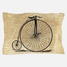 Vintage Penny Farthing Bicycle Pillow Case