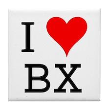 I Love BX Tile Coaster