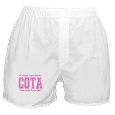 Pink Collegiate COTA Boxer Shorts