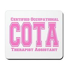 Pink Collegiate COTA Mousepad
