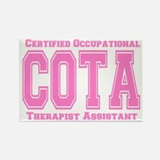 Pink Collegiate COTA Rectangle Magnet
