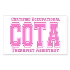 Pink Collegiate COTA Rectangle Decal