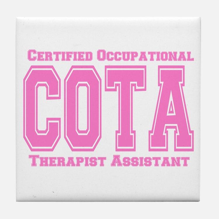 Pink Collegiate COTA Tile Coaster
