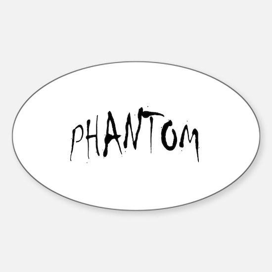 Phantom Halloween Oval Bumper Stickers