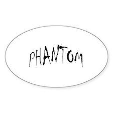 Phantom Halloween Oval Decal
