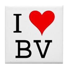 I Love BV Tile Coaster