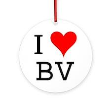 I Love BV Ornament (Round)