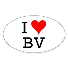 I Love BV Oval Decal